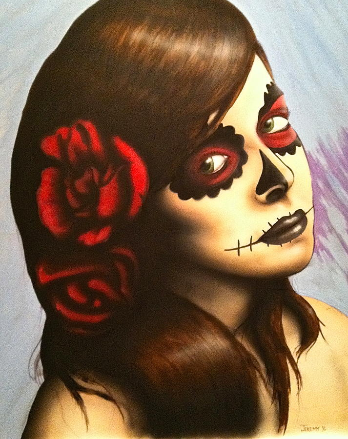 Day Of The Dead Painting - Day Of The Dead by Jeremy Evans