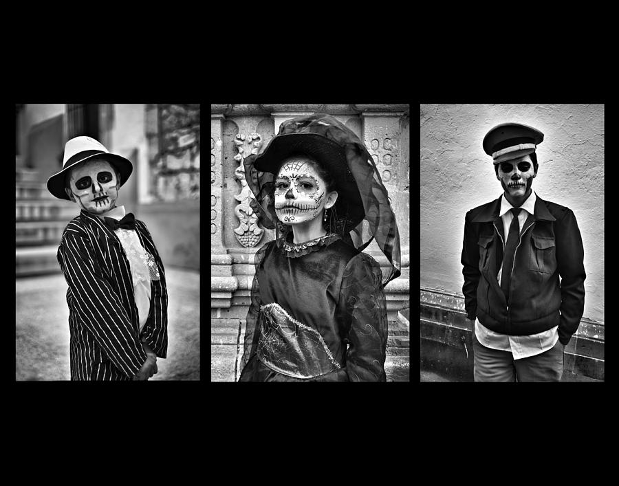 Day Of The Dead Photograph - Day Of The Dead Triptych by David Brommer