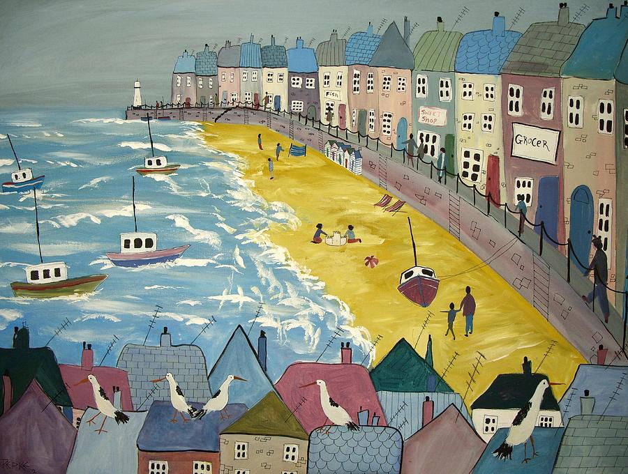 Beach Painting - Day On The Beach by Trudy Kepke