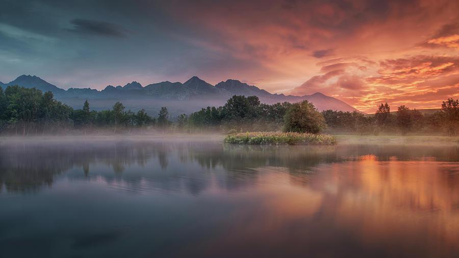 River Photograph - Daybreak By The Lake by Peter Svoboda, Mqep