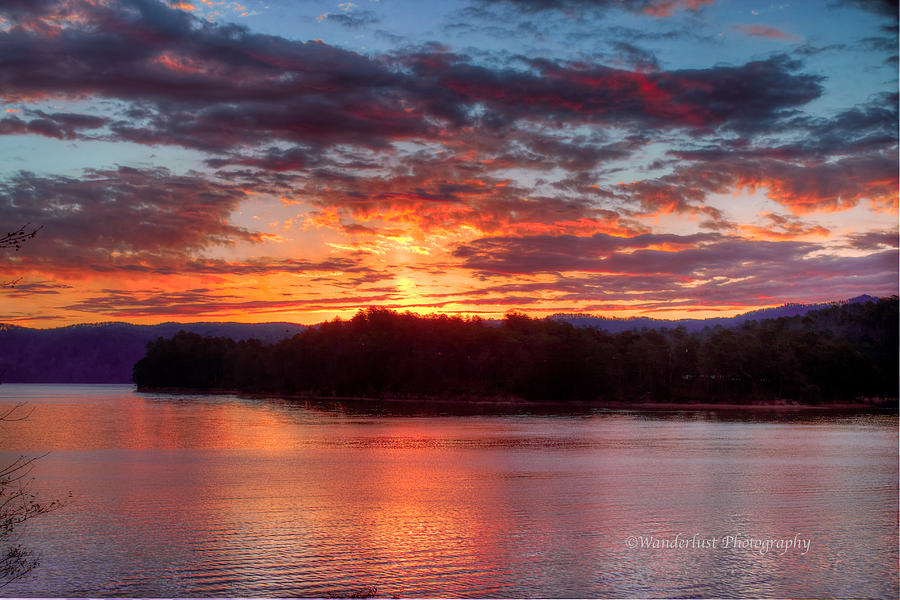 Daybreak Photograph - Daybreak Lake Ocoee by Paul Herrmann