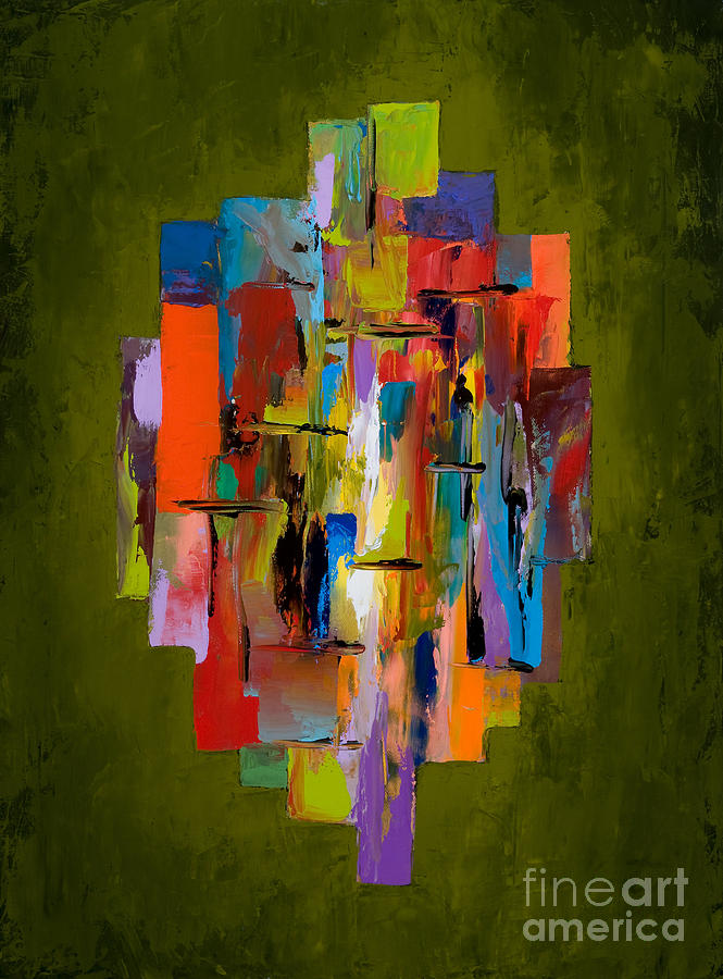 Abstract Painting - Daybreak by Larry Martin