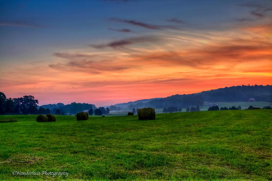 Colors Photograph - Daybreak On The Farm by Paul Herrmann