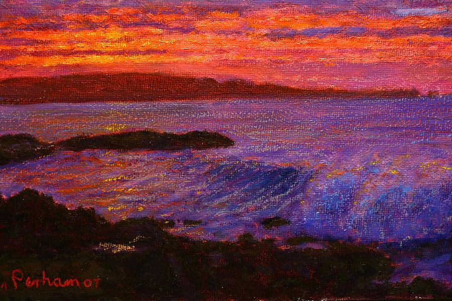 Sunrise Pastel - Daybreak Porpoise Bay by Terry Perham