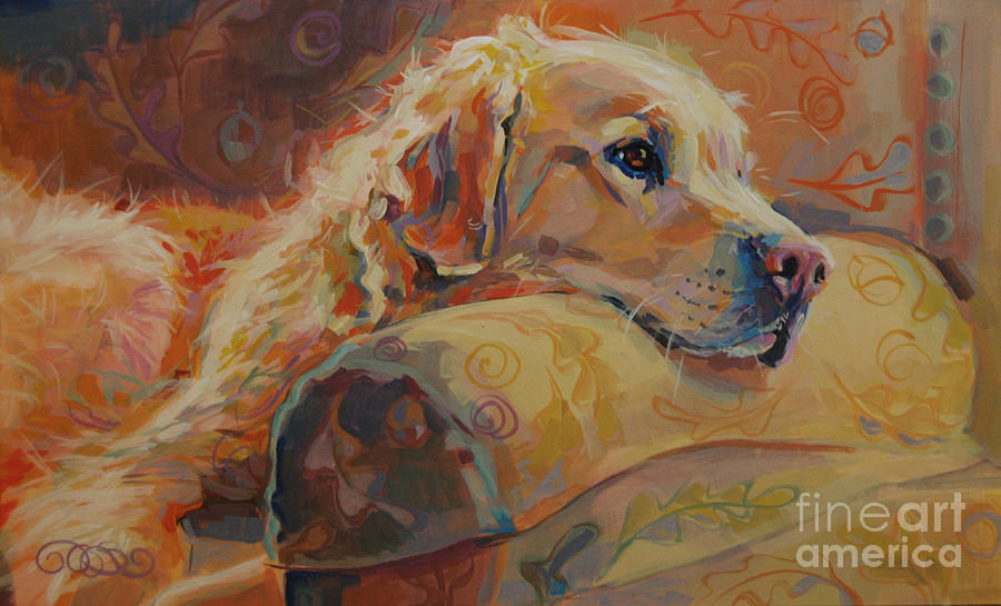 Golden Retriever Painting - Daydream by Kimberly Santini