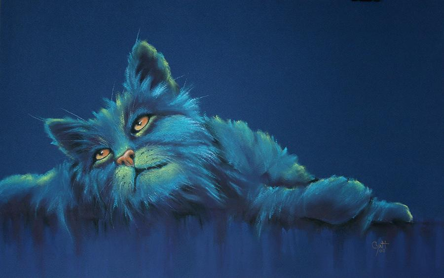Cats Drawing - Daydreams by Cynthia House