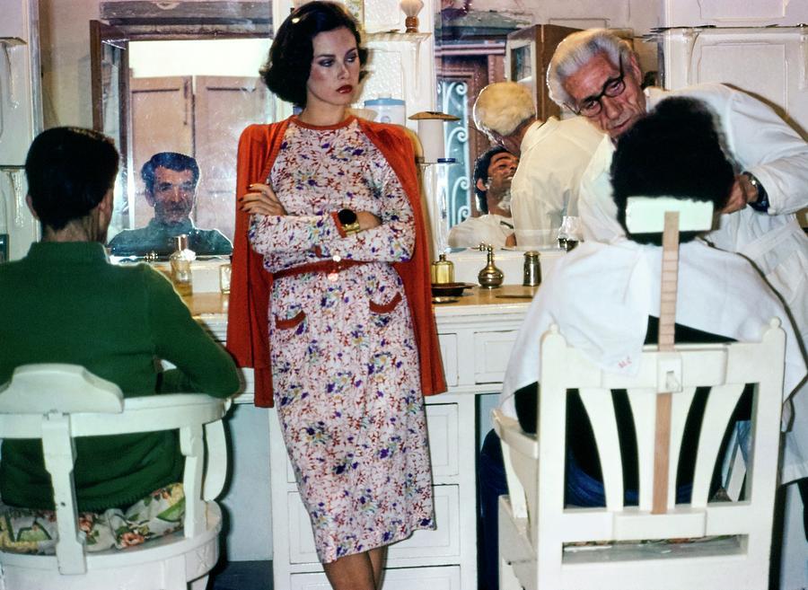 Dayle Haddon Wearing Missoni Photograph by Jacques Malignon