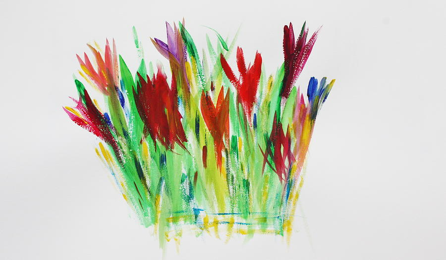 Flowers Painting - Daylillies by Tom Atkins