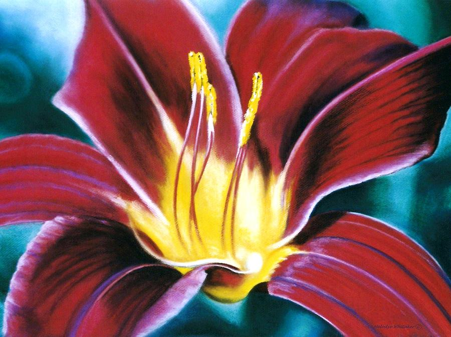 Flower Painting - Daylilly Georgia Style by Melodye Whitaker
