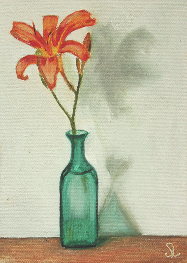 Flower Painting - Daylily by Sarah Lynch