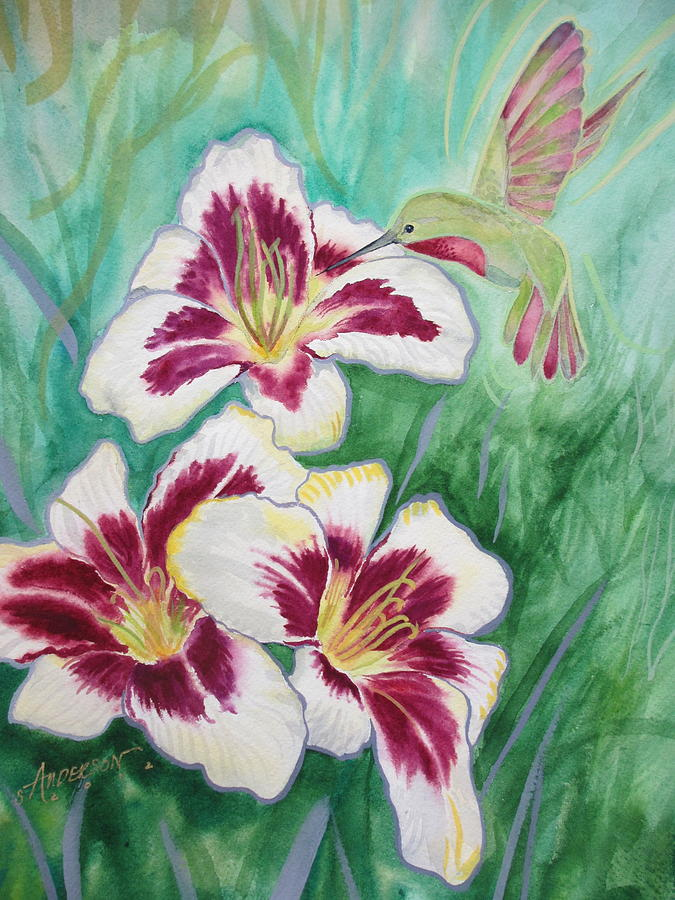 Floral Painting - Daylily by Sherri Anderson