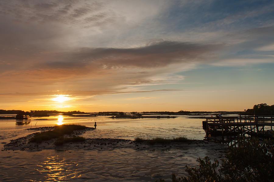 Cedar Key Photograph - Days End by John M Bailey