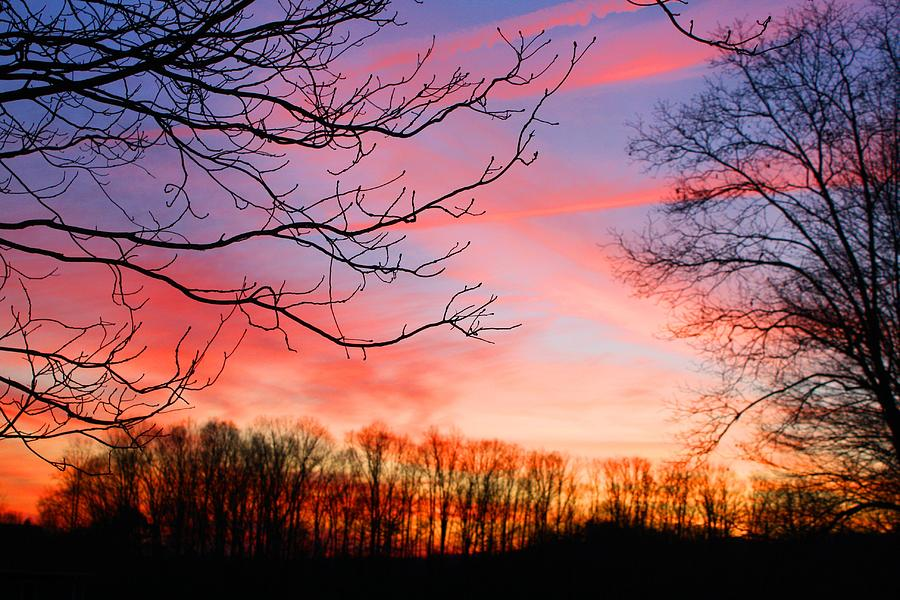 Sunset Photograph - Days End by Kathryn Meyer