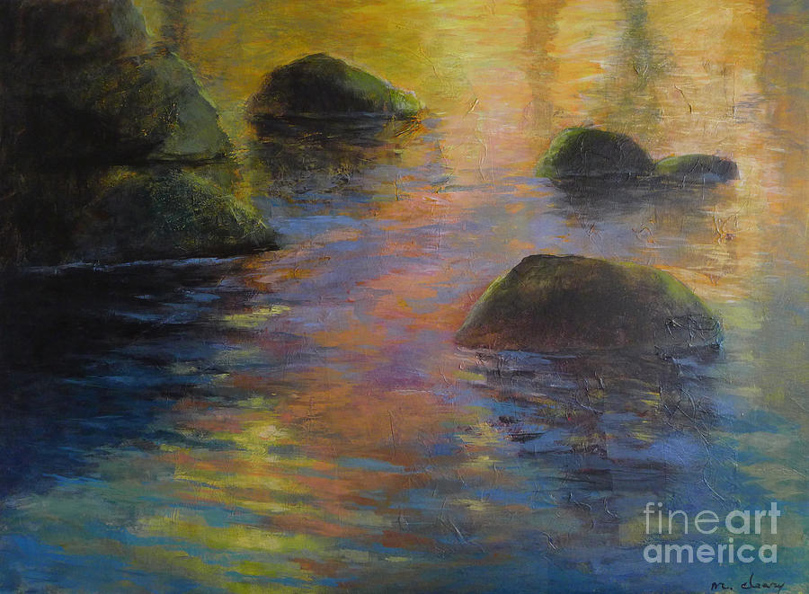 Water Painting - Days End by Melody Cleary