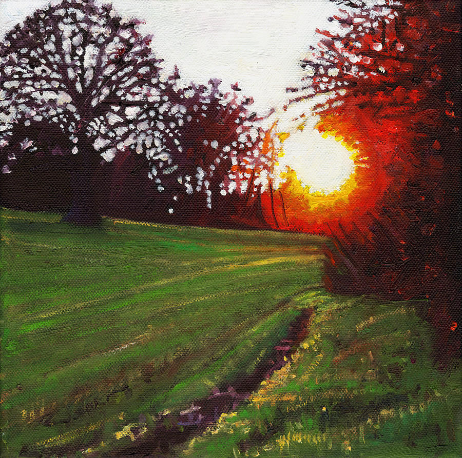 Sunset Painting - Days Finale by Helen White