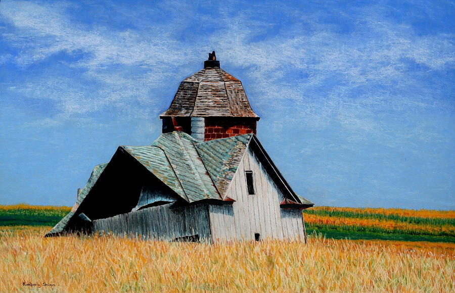 Old Barns Painting - Days Gone By by Kimberly Shinn