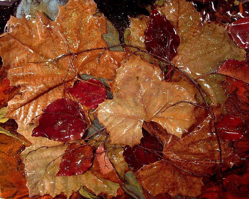 Leaf Painting - Days Of Autumn by Patrick Mock
