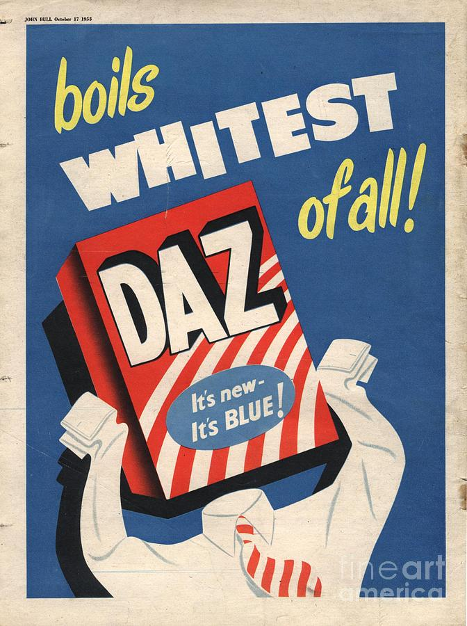 Daz 1950s Uk Washing Powder Products Drawing By The