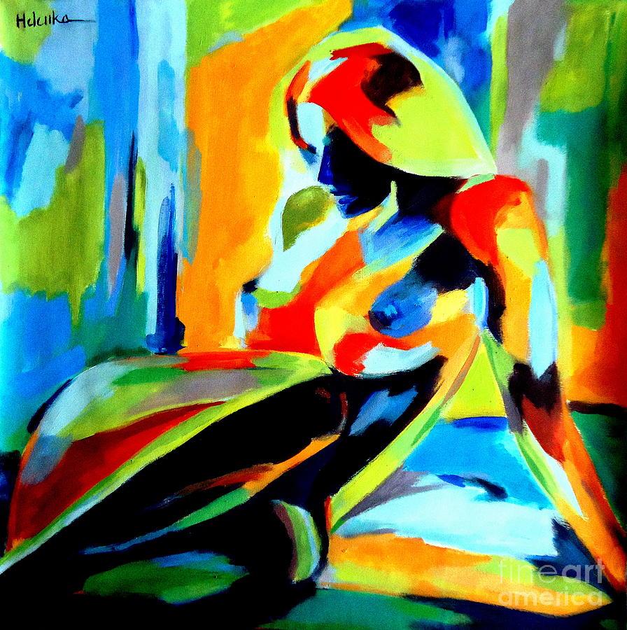 Nude Figures Painting - Dazzling Light by Helena Wierzbicki