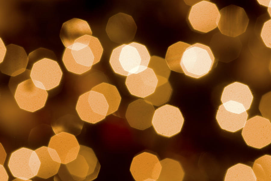 A macro Shot Of Some Of The White Lights On Our Christmas Tree. You Can Do This Too Photograph - Dazzling Lights by Rich Franco