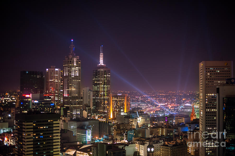 Melbourne Photograph - Dazzling Melbourne by Ray Warren