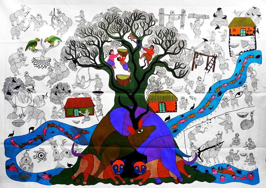 Db 209 Painting by Durga Bai