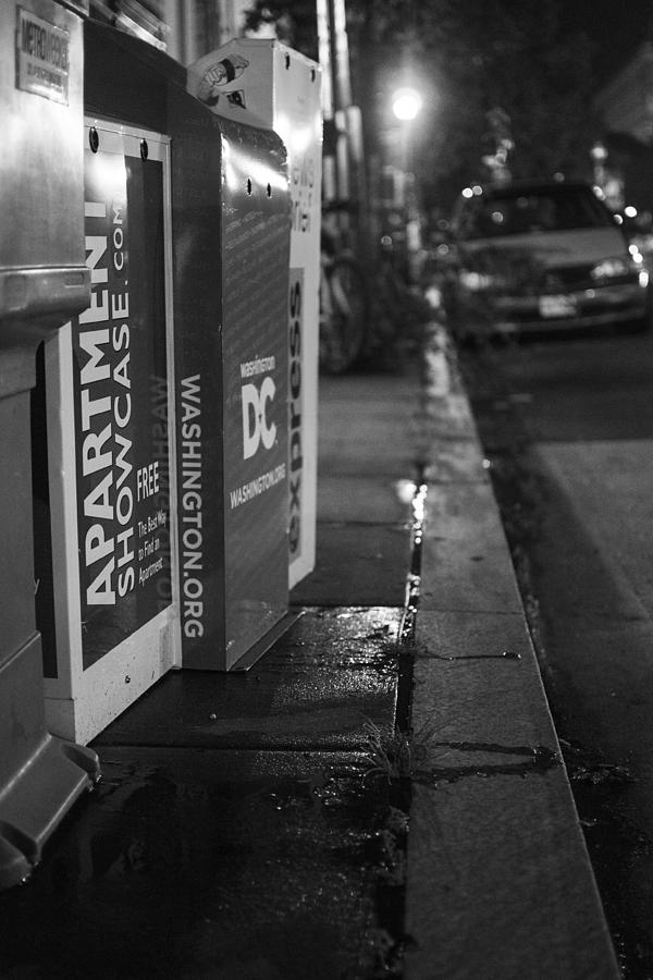 Night Photograph - Dc News by Michael Williams