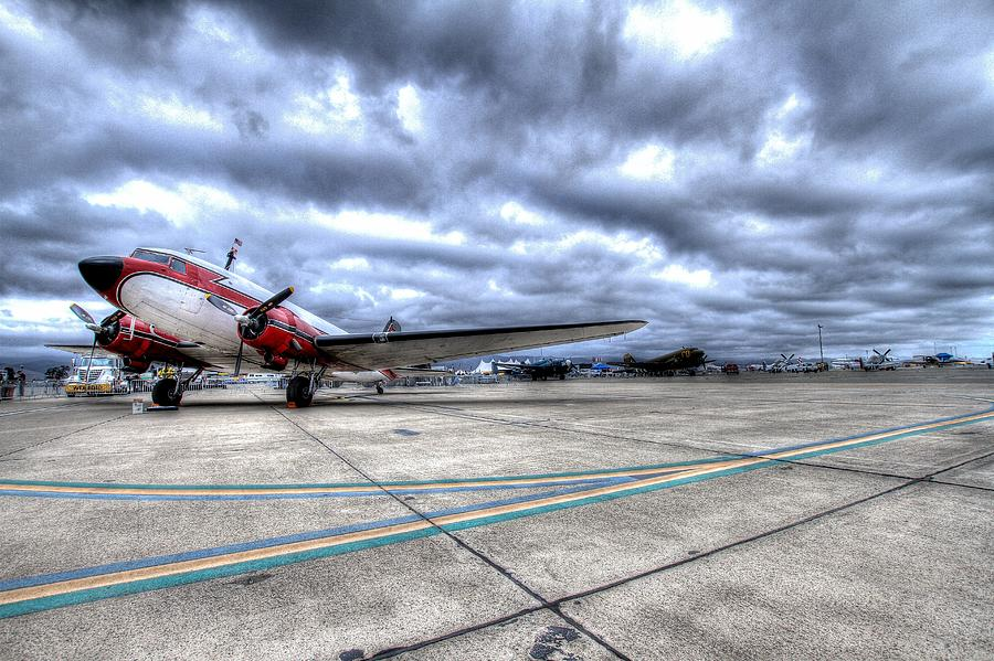 Dc3 And C47 Among The Mustangs At Salinas Air Show Photograph by John King