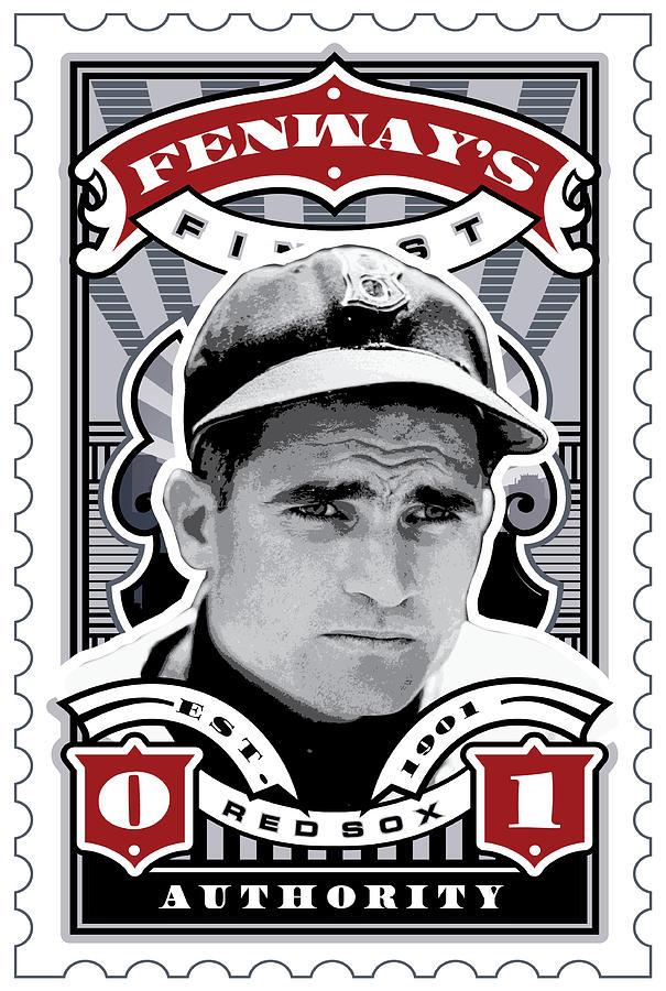 Ted Williams Digital Art - Dcla Bobby Doerr Fenways Finest Stamp Art by David Cook Los Angeles