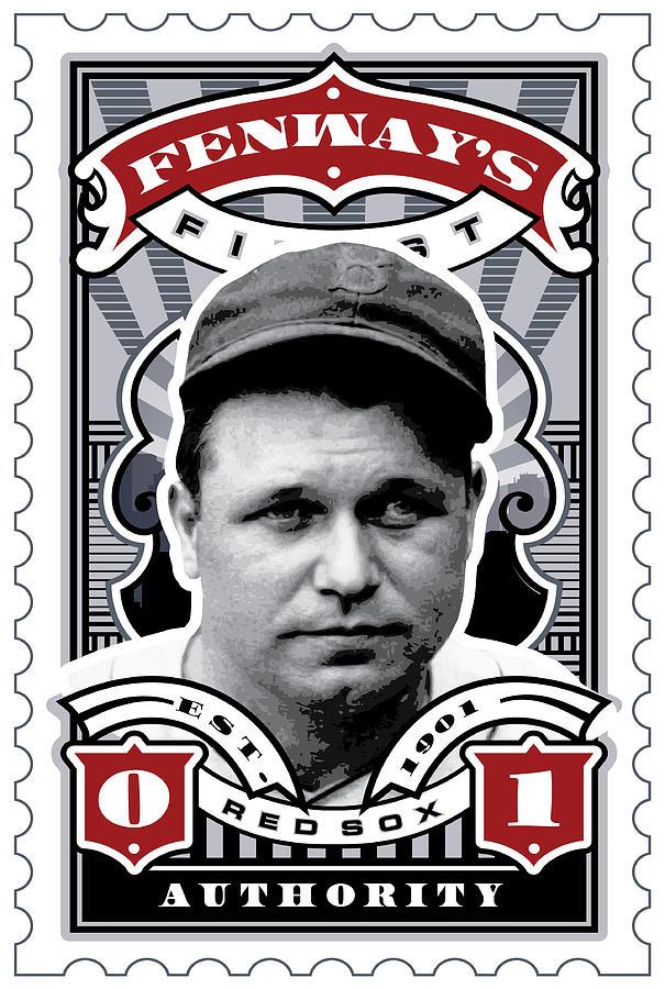Ted Williams Digital Art - Dcla Jimmie Fox Fenways Finest Stamp Art by David Cook Los Angeles