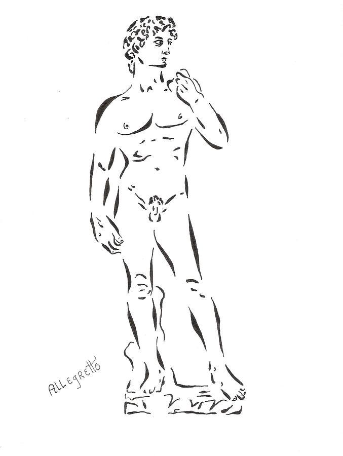 Michelangelo Painting - De-constructing David by Pamela Allegretto
