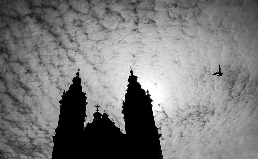 Black & White Photograph - De Krijtberg by Shari Mattox