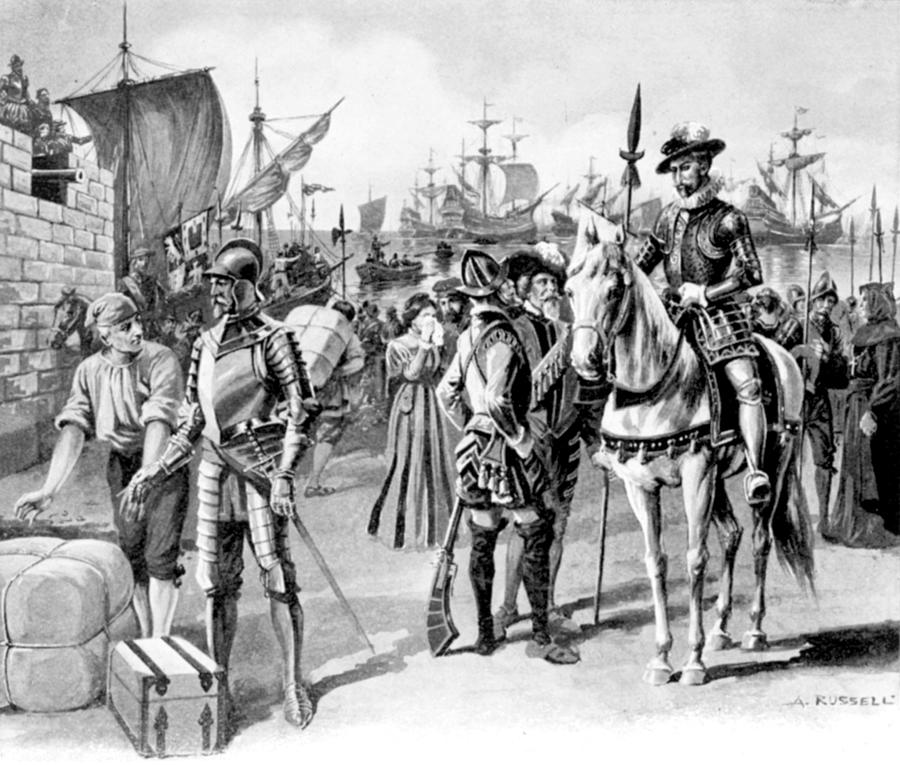 1538 Drawing - De Soto Departure, 1538 by Granger