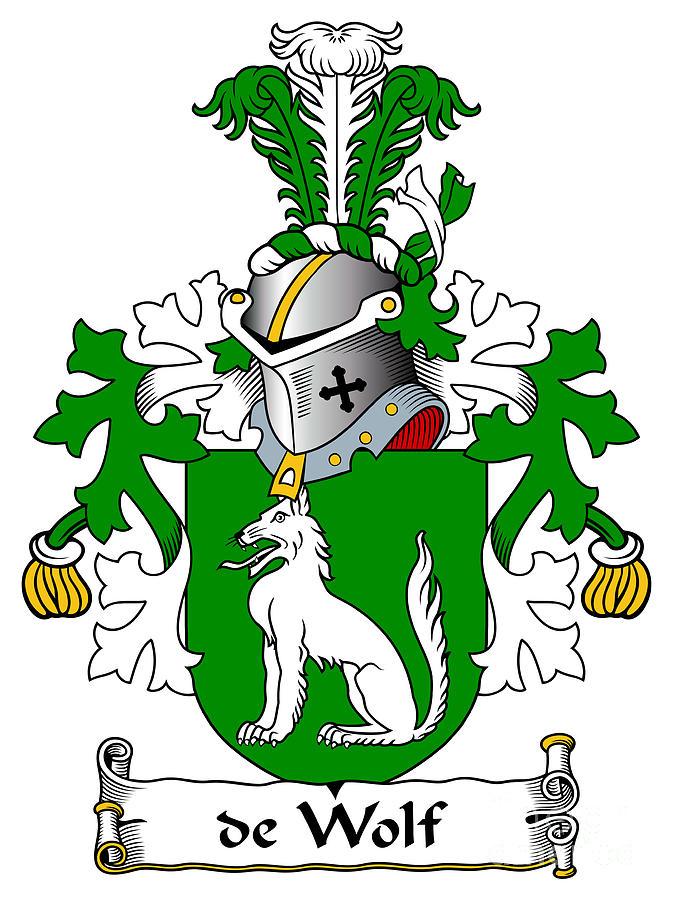 de Wolf Coat of Arms Dutch by Heraldry