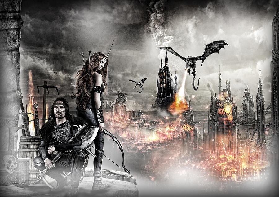Gothic Photograph - Dead City by Wendy White