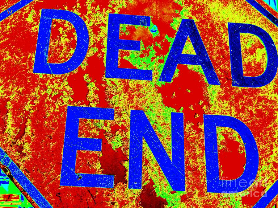 Street Sign Photograph - Dead End by Ed Weidman