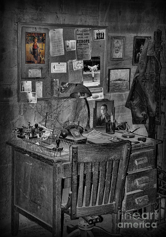 Office Desk Photograph - Dead-end Job by Lee Dos Santos