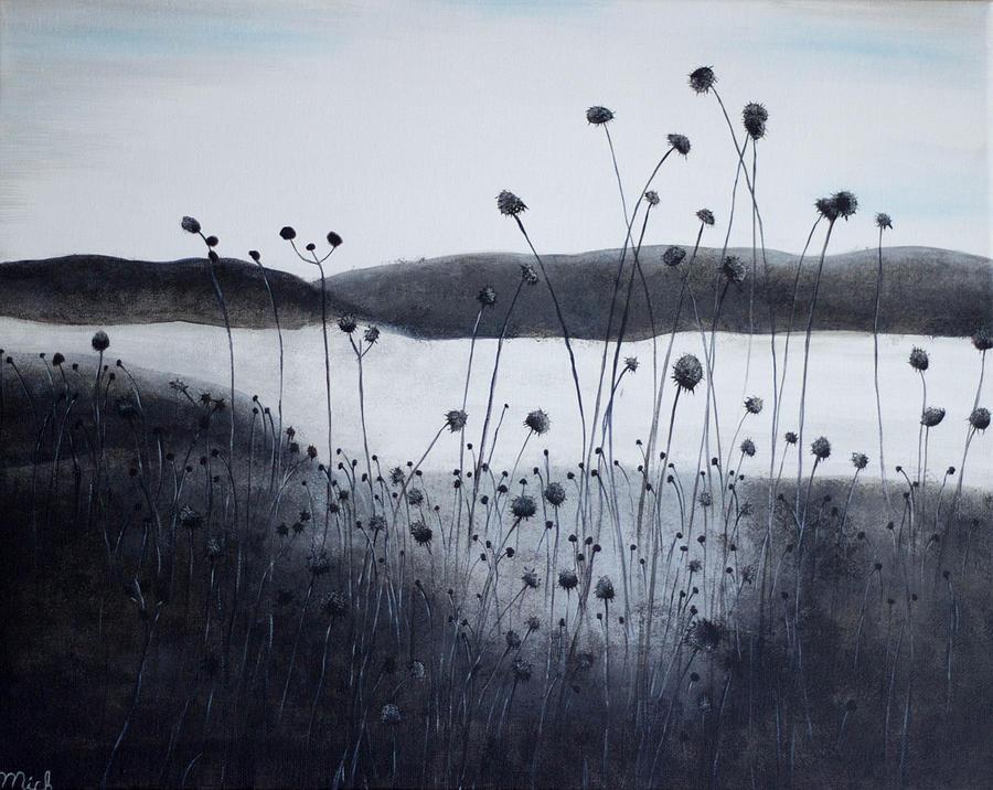 Dead Flower Field Painting By Michelle Dunn