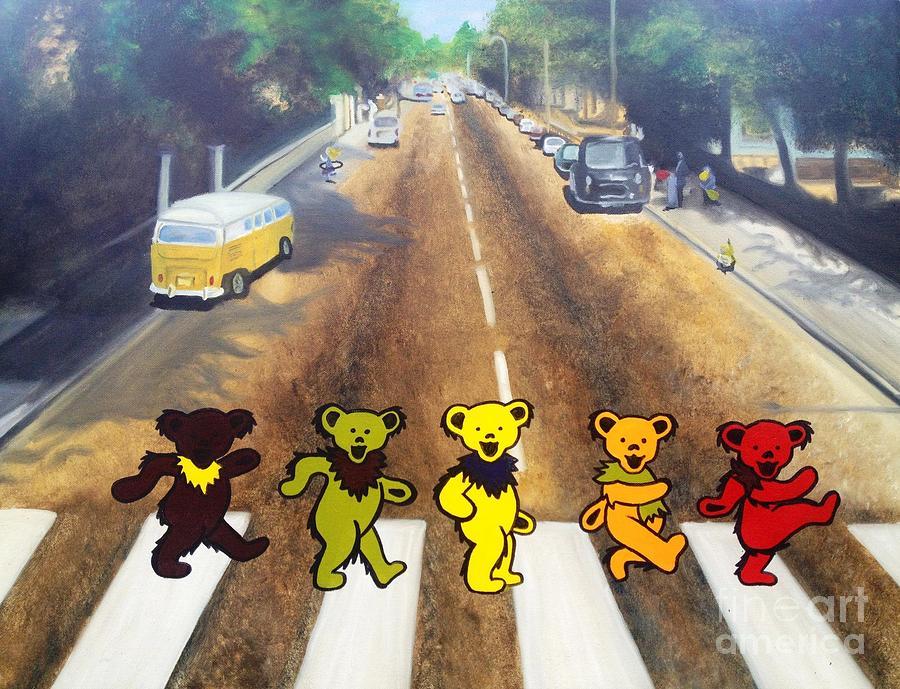 Beatles Painting - Dead On Abbey Road by Jen Santa