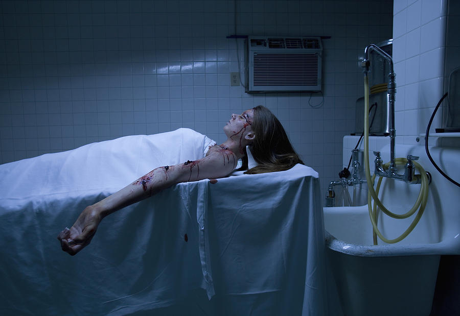 Dead Teenage Girl (15-17) Lying In Morgue Photograph by DreamPictures