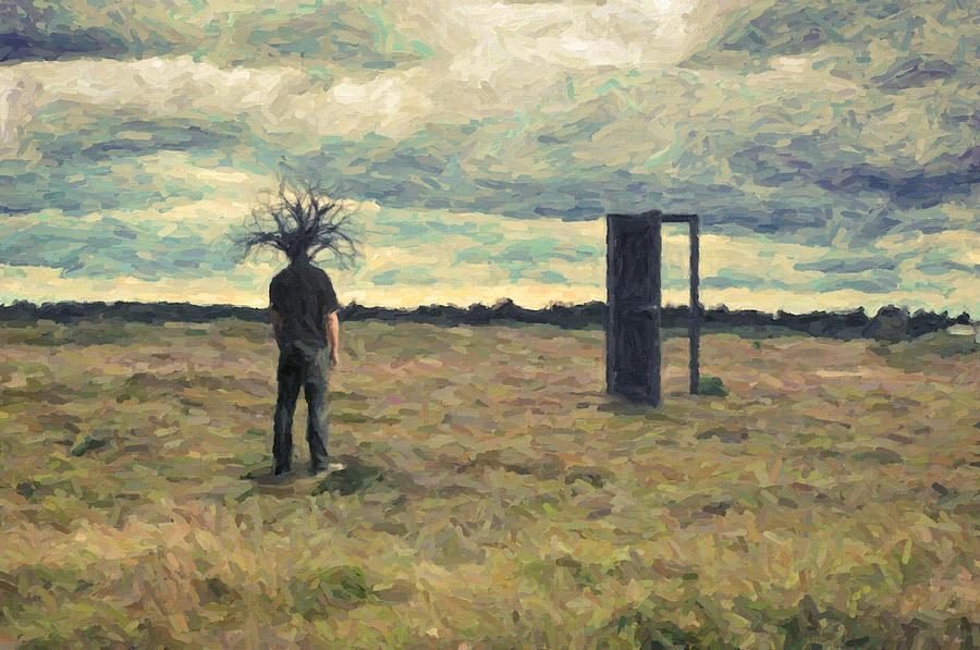 Surreal Painting - Dead Zone by Taylan Apukovska