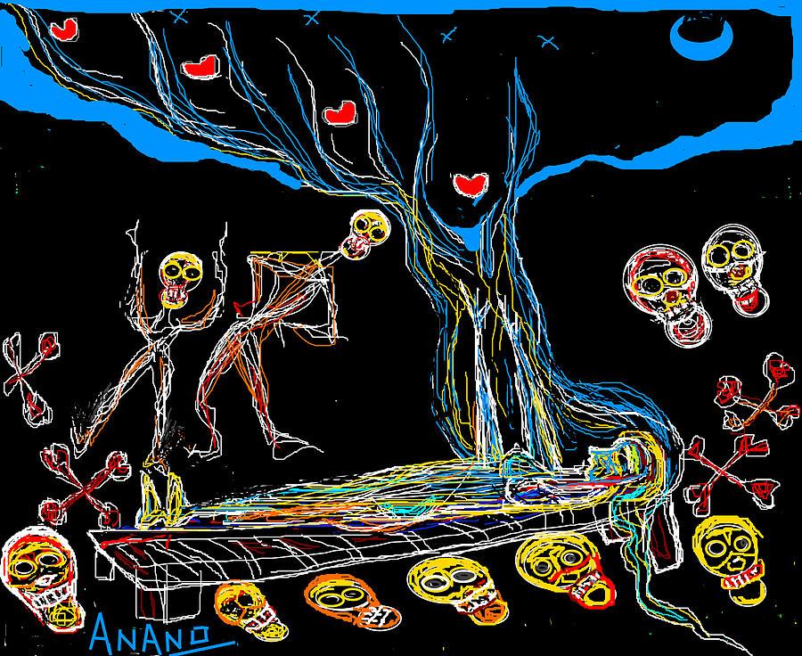 Peacocks Digital Art - Deadly Dream by Anand Swaroop Manchiraju