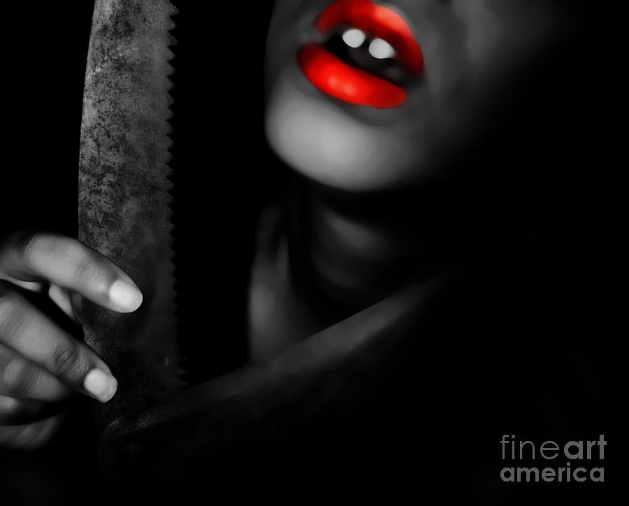 Black Photograph - Deadly Lipstick Games by Jessica Shelton
