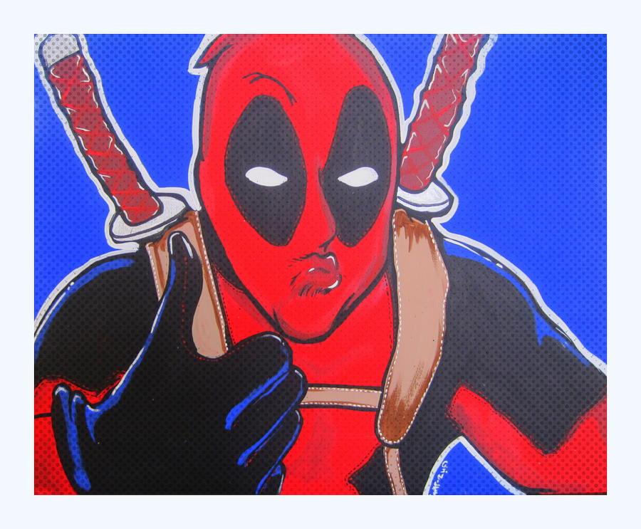 Deadpool Painting - Deadpool Duckface Selfie by Gary Niles