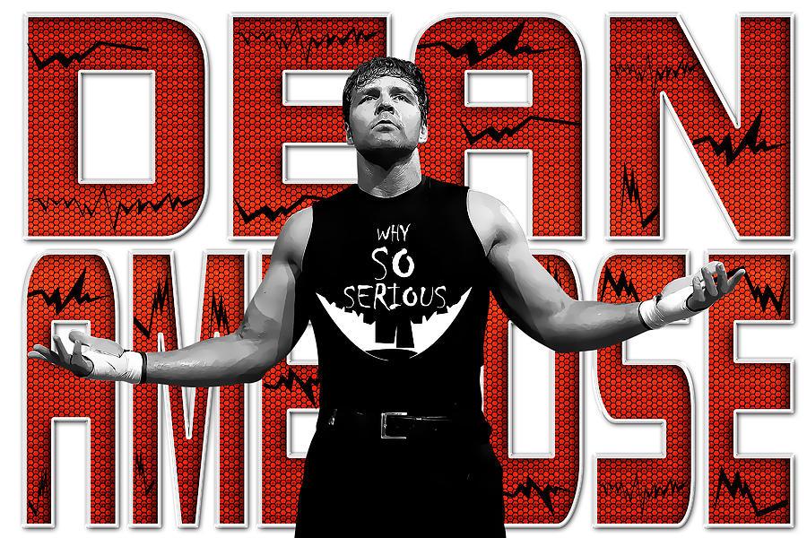Dean Ambrose Digital Art - Dean Ambrose Why So Serious by Anibal Diaz