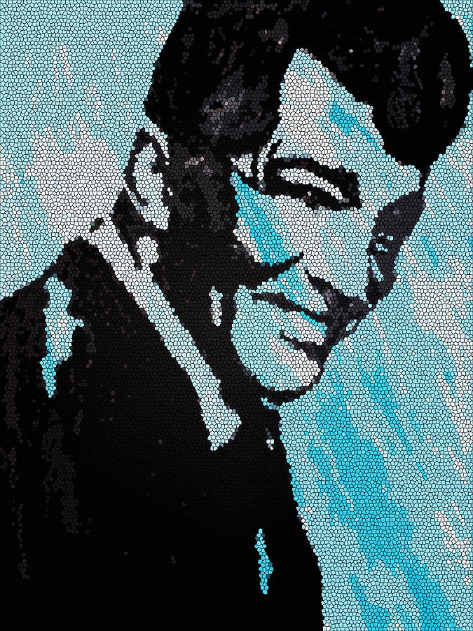 Famous Singers Painting - Dean Martin In Stained Glass by Robert Margetts