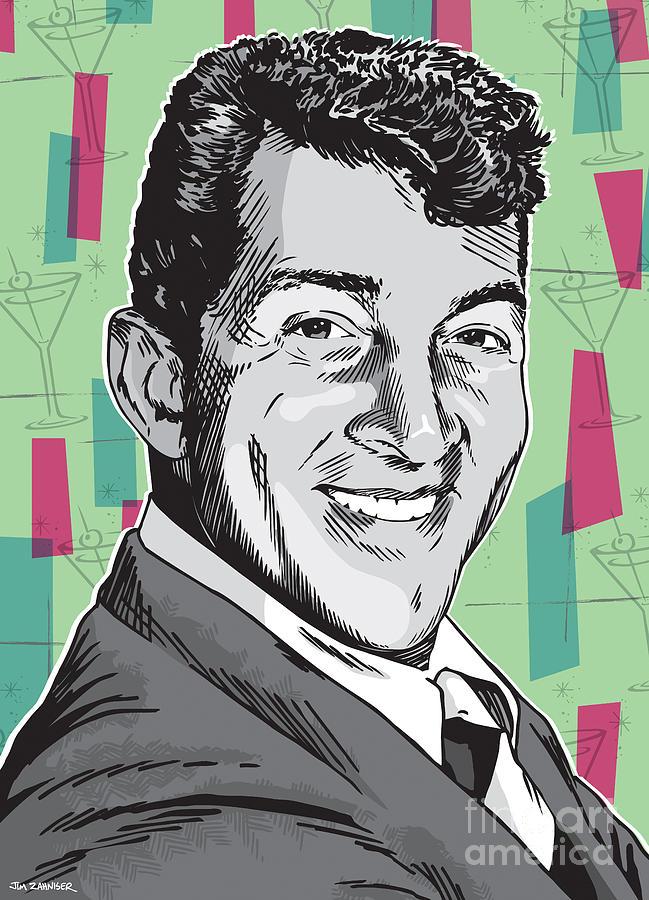 Dean Martin Pop Art Digital Art By Jim Zahniser