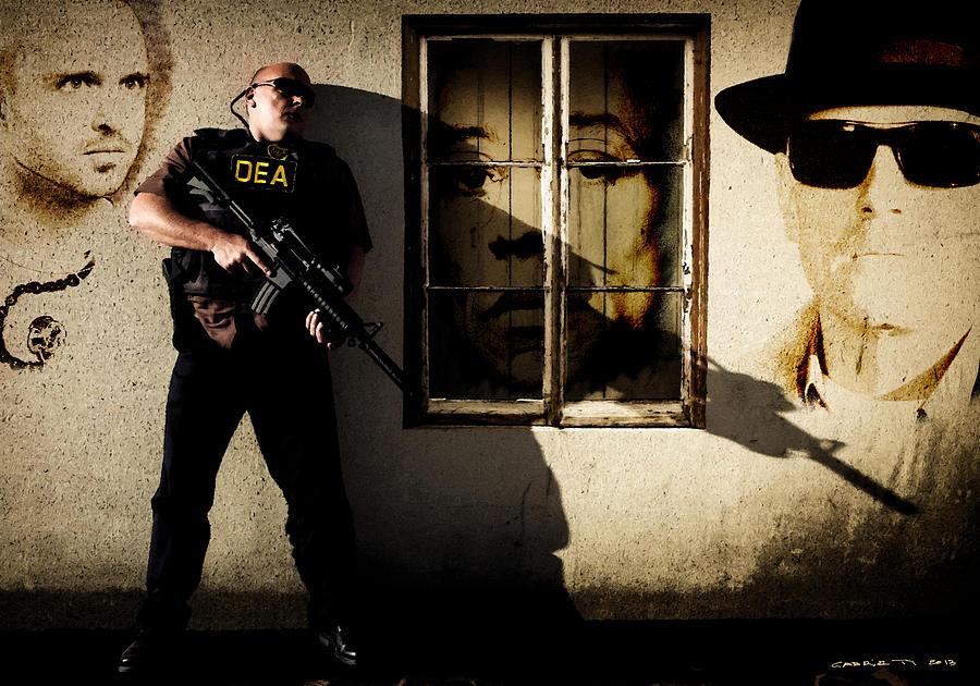 Breaking Bad Digital Art - Dean Norris as Hank Schrader  @ TV serie Breaking Bad by Gabriel T Toro