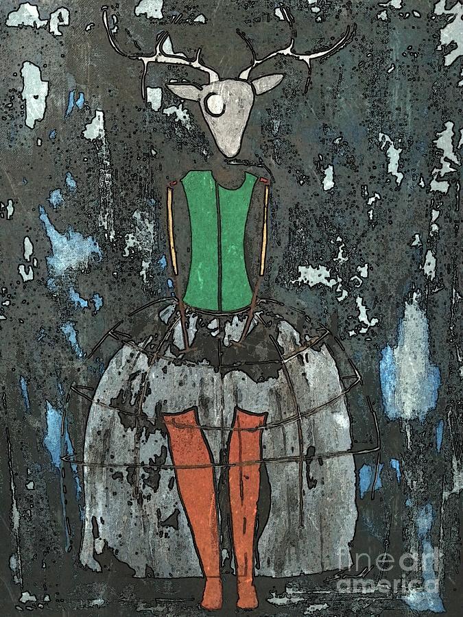 Deer Painting - Dear Deer by Amy Sorrell