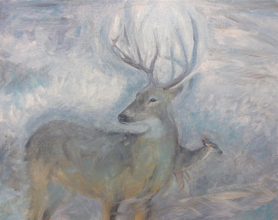 Deer Painting - Dear Stanley by Sherri Anderson